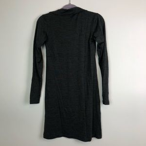 Lucy Dresses - Lucy Quarter Zip Gray Wool Athleisure Dress XS